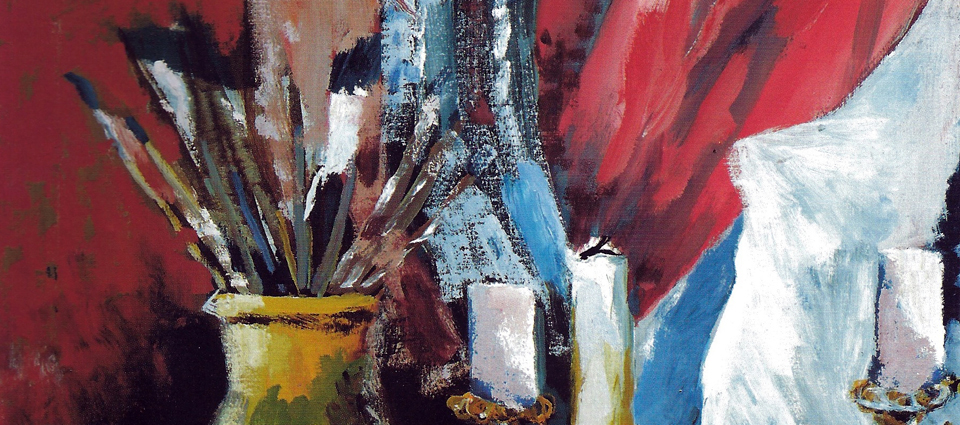 Kuva: Jerzy OMELCZUK — Mouth painter, Poland, Painter´s Still Life, oil, 71x50